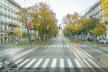 Big Bus Citytour - Wien - So 25.10.2020 - Ringstraße Schubertring Wien ohne Verkehr, menschenleer, Fahrsp24