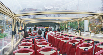 Big Bus Citytour - Wien - So 25.10.2020 - wenig los wegen Corona im Touristenbus BigBus Oberdeck38