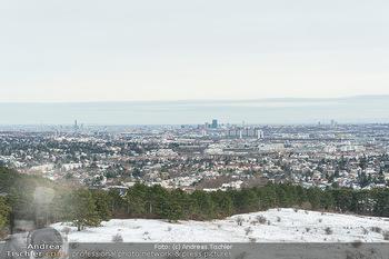 Spaziergang mit Kristina Inhof - Perchtoldsdorfer Heide - Di 19.01.2021 - Blick über Wien von der Perchtoldsdorfer Heide, Alt-Erlaa, Wien11