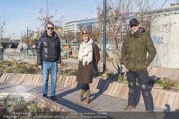 Spaziergang mit Michael Steinocher - Donaukanal Wien - Mi 20.01.2021 - Clemens TRISCHLER, Michael STEINOCHER, Romina COLERUS26