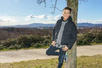 Spaziergang mit Vincent Bueno - Wienerberg, Wien - Do 04.02.2021 - Vincent BUENO (Portrait)28