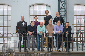 Fotoshooting zu Ladies Night - Kunsthalle Berndorf, NÖ - Di 09.02.2021 - Gruppenfoto Darsteller (Kristina SPRENGER, Christoph FÄLBL, Mic28