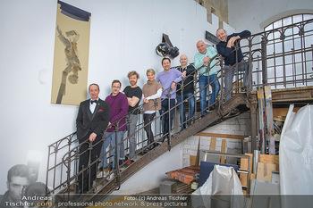 Fotoshooting zu Ladies Night - Kunsthalle Berndorf, NÖ - Di 09.02.2021 - Gruppenfoto Darsteller (Kristina SPRENGER, Christoph FÄLBL, Mic45