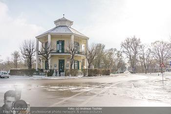 Spaziergang mit Andreas Kiendl - Lusthaus, Wien - Do 11.02.2021 - Lusthaus Wien im Winter bei eisigem Wetter15