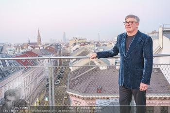 Ana Milva Gomes Privatkonzert - Privatwohnung, Wien - Di 02.03.2021 - Franz KOLLITSCH über den Dächern von Wien auf seiner Terrasse20