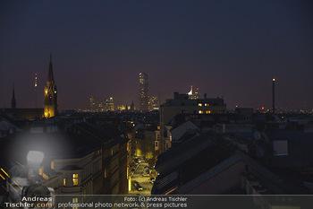 Ana Milva Gomes Privatkonzert - Privatwohnung, Wien - Di 02.03.2021 - Blick über Wien bei Nacht von der Landstraßer Hauptstraße aus26