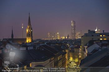 Ana Milva Gomes Privatkonzert - Privatwohnung, Wien - Di 02.03.2021 - Blick über Wien bei Nacht von der Landstraßer Hauptstraße aus27