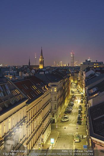 Ana Milva Gomes Privatkonzert - Privatwohnung, Wien - Di 02.03.2021 - Blick über Wien bei Nacht von der Landstraßer Hauptstraße aus28