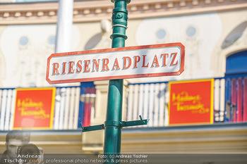 Lokalaugenschein Wien - Wien - Di 30.03.2021 - Straßenschild Riesenradplatz Wiener Wurstelprater23