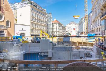 Lokalaugenschein Wien - Wien - Di 30.03.2021 - Blick auf die Bautelle am Neuer Markt Wien37