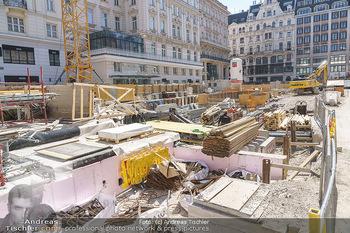 Lokalaugenschein Wien - Wien - Di 30.03.2021 - Blick auf die Bautelle am Neuer Markt Wien49