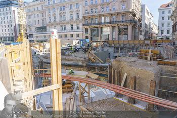 Lokalaugenschein Wien - Wien - Di 30.03.2021 - Blick auf die Bautelle am Neuer Markt Wien50