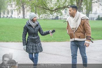 Spaziergang mit Cesar Sampson - Burggarten, Wien - Do 08.04.2021 - Cesar SAMPSON interviewt von Romina COLERUS im Schneegestöber20