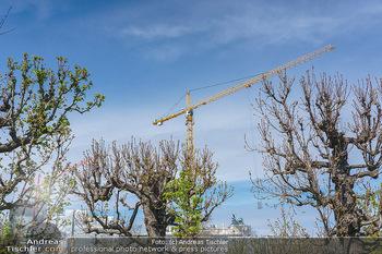 Lokalaugenschein Wien - Wien - Mo 12.04.2021 - Baustelle des neuen Parlaments mit Bau Kränen16