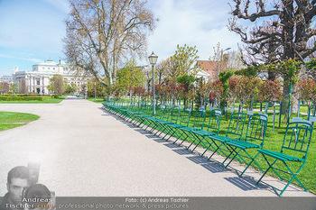 Lokalaugenschein Wien - Wien - Mo 12.04.2021 - leerer Park Volksgarten bei Schönwetter während LockDown, Park19