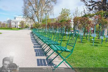 Lokalaugenschein Wien - Wien - Mo 12.04.2021 - leerer Park Volksgarten bei Schönwetter während LockDown, Park20