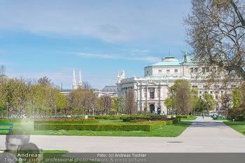 Lokalaugenschein Wien - Wien - Mo 12.04.2021 - leerer Park Volksgarten bei Schönwetter während LockDown, Park21