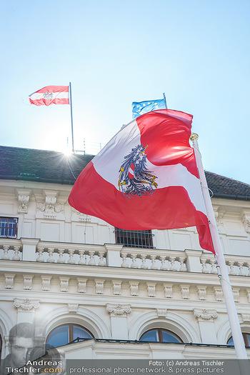 Lokalaugenschein Wien - Wien - Mo 12.04.2021 - Österreich Österreichische Fahne Flagge auf der Präsidentscha26