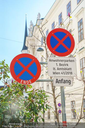 Lokalaugenschein Wien - Wien - Mo 12.04.2021 - Verkehrsschild Halten und Parken verboten lt. Amtsblatt Wien 41/30