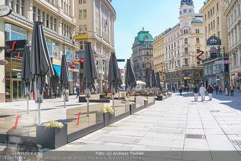 Lokalaugenschein Wien - Wien - Mo 12.04.2021 - geschlossene Gastronomie Restaurants Gastgarten Schanigärten w34