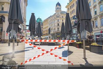 Lokalaugenschein Wien - Wien - Mo 12.04.2021 - geschlossene Gastronomie Restaurants Gastgarten Schanigärten w35