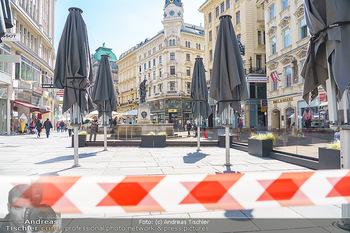 Lokalaugenschein Wien - Wien - Mo 12.04.2021 - geschlossene Gastronomie Restaurants Gastgarten Schanigärten w37