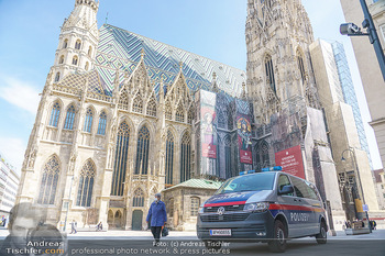 Lokalaugenschein Wien - Wien - Mo 12.04.2021 - Polizei vor Stephansdom während LockDown am Stephansplatz45