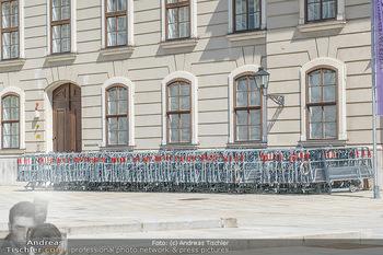Lokalaugenschein Wien - Wien - Mo 12.04.2021 - Absperrgitter für Demo Demos Demonstrationen stehen bereit bei 59