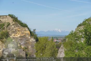 PK zu Turandot - Steinbruch St. Margarethen, Burgenland - Di 04.05.2021 - Blick auf Schneeberg, Rax und Hohe Wand vom Steinbruch St. Marga3
