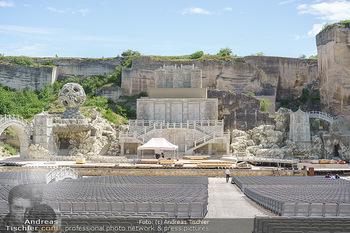 Musicalstars im Steinbruch - Steinbruch St. Margarethen, Burgenland - So 16.05.2021 - Bühnenbild im Aufbau zu Turandot Oper im Steinbruch 20219