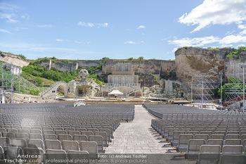 Musicalstars im Steinbruch - Steinbruch St. Margarethen, Burgenland - So 16.05.2021 - Bühnenbild im Aufbau zu Turandot Oper im Steinbruch 202110