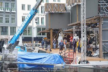 King & Potter Fototermin - Skybar, Wien - Do 27.05.2021 - Aufbau, Baustelle vor dem Austria for Life Konzert9
