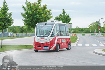 Selbstfahrender Autobus - Seestadt Aspern, Wien - Do 27.05.2021 - Selbstfahrender Bus in der Seestadt1