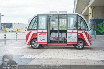 Selbstfahrender Autobus - Seestadt Aspern, Wien - Do 27.05.2021 - Selbstfahrender Bus in der Seestadt11