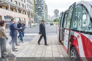 Selbstfahrender Autobus - Seestadt Aspern, Wien - Do 27.05.2021 - Selbstfahrender Bus in der Seestadt13