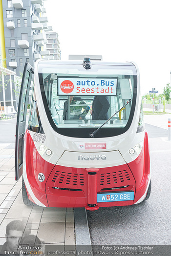 Selbstfahrender Autobus - Seestadt Aspern, Wien - Do 27.05.2021 - Selbstfahrender Bus in der Seestadt14