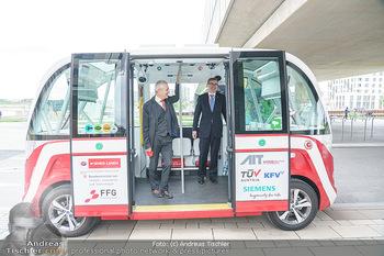 Selbstfahrender Autobus - Seestadt Aspern, Wien - Do 27.05.2021 - Selbstfahrender Bus in der Seestadt, Günter Steinbauer, Ministe15