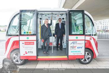 Selbstfahrender Autobus - Seestadt Aspern, Wien - Do 27.05.2021 - Selbstfahrender Bus in der Seestadt, Günter Steinbauer, Ministe17