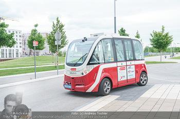 Selbstfahrender Autobus - Seestadt Aspern, Wien - Do 27.05.2021 - Selbstfahrender Bus in der Seestadt19