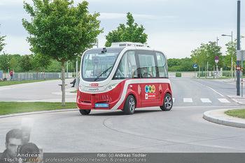 Selbstfahrender Autobus - Seestadt Aspern, Wien - Do 27.05.2021 - Selbstfahrender Bus in der Seestadt21