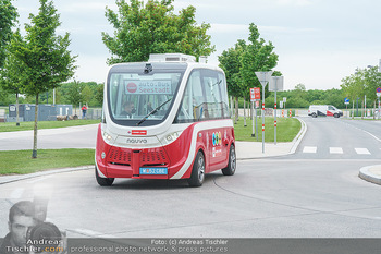 Selbstfahrender Autobus - Seestadt Aspern, Wien - Do 27.05.2021 - Selbstfahrender Bus in der Seestadt22