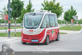 Selbstfahrender Autobus - Seestadt Aspern, Wien - Do 27.05.2021 - Selbstfahrender Bus in der Seestadt23
