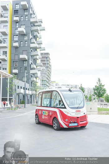 Selbstfahrender Autobus - Seestadt Aspern, Wien - Do 27.05.2021 - Selbstfahrender Bus in der Seestadt24