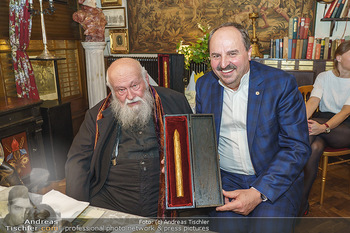 Verleihung Goldener Spargel - Marchfelderhof - Mo 31.05.2021 - Hermann NITSCH, Johann LAFER1