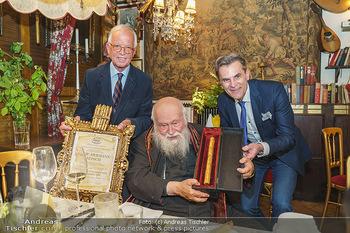 Verleihung Goldener Spargel - Marchfelderhof - Mo 31.05.2021 - Hermann NITSCH, Johann LAFER, Peter GROSSMANN25