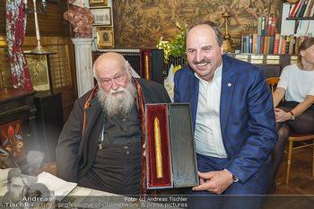 Verleihung Goldener Spargel - Marchfelderhof - Mo 31.05.2021 - Hermann NITSCH, Johann LAFER32