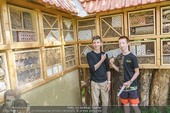 Wildbienen Hotel Eröffnung - Seehof, Donnerskirchen - Sa 05.06.2021 - Kinder haben Teile des Insektenhotels in der Schule gebaut17