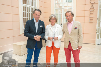 Xenia Hausner Empfang - Albertina, Wien - Di 08.06.2021 - Christian RAINER, Xenia HAUSNER, Lothar WESEMANN2
