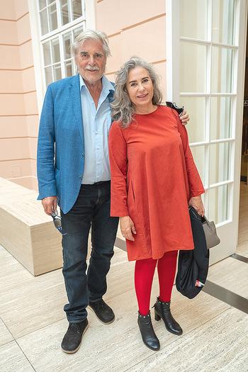 Xenia Hausner Empfang - Albertina, Wien - Di 08.06.2021 - Brigitte KARNER, Peter SIMONISCHEK12
