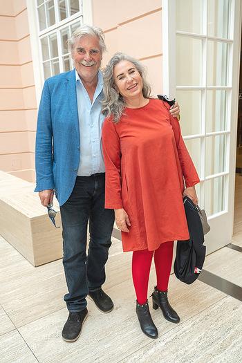 Xenia Hausner Empfang - Albertina, Wien - Di 08.06.2021 - Brigitte KARNER, Peter SIMONISCHEK13
